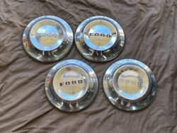 1952-1954 Ford Dog Dish Poverty Hubcap Center Caps Set Of 4