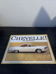 1964 Chevy Chevelle Chevrolet Sales Brochure Booklet Book Catalog Old