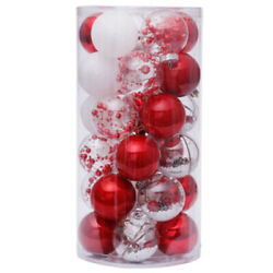 30x30pcs Christmas Decorations For Home Christmas Tree Pendant Ornaments Red