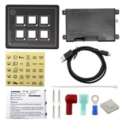 30x6 In 1 Contact Screen Switch Panel Dc11-30v 6 Gang Led Slim Contact Control