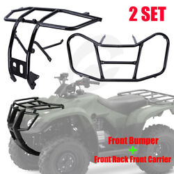 Front Bumper And Front Rack Carrier For Honda Trx 250 Te Tm Recon 250 Trx250 05-16