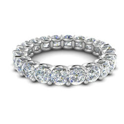Excellent Round 3.20 Ct Real Diamond Wedding Band Solid 14k White Gold Size N P