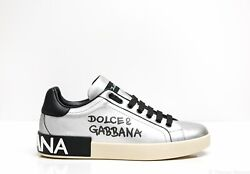 New In Box Dolce And Gabbana Menand039s Silver Sneaker C1772