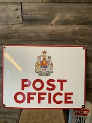 Vintage Canada Post Porcelain Sign