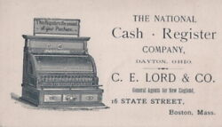 Ca 1900 National Cash Register Company Dayton Ohio 16 State St C E Lord And Co