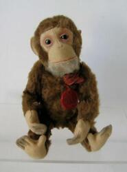 Schuco Tricky Yes/no Mohair Chimpanze Monkey W/ Original Id Tag And Ribbon 10