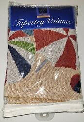 BEACH THEME TAPESTRY VALANCE 54in x 15in