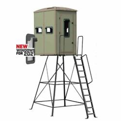 Muddy Outdoors Striker Deer Hunting Box Blind - 5and039 And 10and039 Elite Tower Options