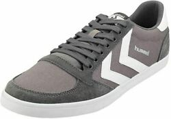 Hummel Slimmer Stadil Low Grey White Mens Trainers Shoes
