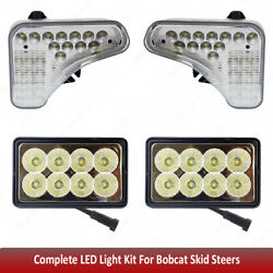 1 Pair Upper Cab Light And 2 Pcs Rear Work Lights For Bobcat Skid Steers S590++