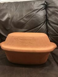 Vintage Littonware Microwave Ovenware 3 Qt. Clay Simmer Pot Cooker 849 Germany