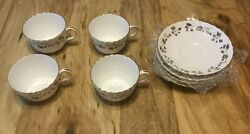 6 Minton Dryden Pattern Cups And Saucers Discontinued