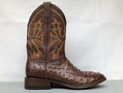 Rod Patrick Bootmakers Mexico Brown Ostrich Leather Wo 3196 Menand039s 10.5 B Exotic