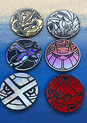 6 Pokemon Chips Coins Pogs Plastic Good Vintage Condition Collectible Collection
