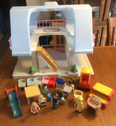 Little Tikes Blue Roof Doll House With Family, Furniture, And Accessories