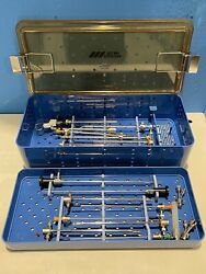 Acmi Circon Hysterscopy / Resection Instrument Tray 524-7266 With Scopes M2 M3