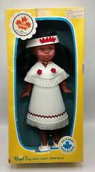Vintage Regal Toy Canadiana Doll Native American Indian Girl 15