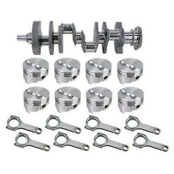 Forged S/b Chevy Rotating Assembly-434 Dome-350 Mains-6 Rod-.040