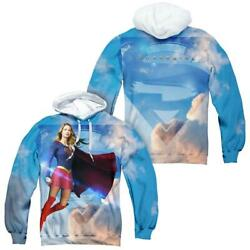 Supergirl Tv Series Up In The Sky Front/back Print - All-over Print Pullover