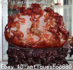 17 Rare Agate Onyx Huit Chevaux Courants Succeed Horse Horses Statue Dand039animal