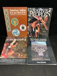 Vintage Native American Indian Magazines And Books, Lot Of 4