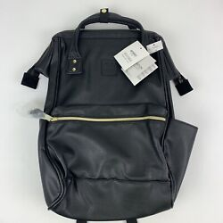 Anello official leather cap backpack AT B1211 BK black 18in x 12in x 7in $75.00