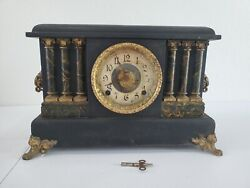 Antique Ingraham Empresd Mantle Clock For Parts Not Working