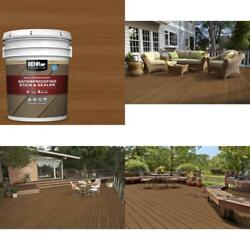 5 Gal. St-115 Antique Brass Semi-transparent Waterproofing Exterior Wood Stain