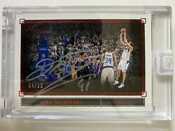 2019-20 Panini One And One Dirk Nowitzki Timeless Moments Red Silver Auto /25