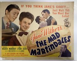 The Mad Martindales 1942 Original Movie Poster Jane Withers Yeoldepostercom