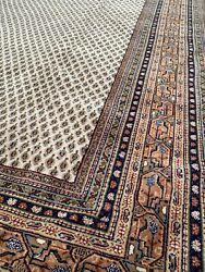 Brand New Handmade In India Modern Paisley Rug Neutral Colors Soft Pile 8x12