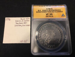 1796 Draped Bust $1.00 Small Eagle Reverse ANACS VF35 Details 223 Years Old