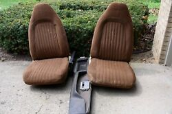 1970s E Body Plymonth Cuda/dodge Challenger Front And Rear Seats/console/slapstik