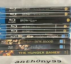 Harry Potter Twilight The Hunger Games Blu-ray Lot Deathly Hallows Part 1 2