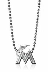 Alex Woo Little Mlb Sterling Silver Miami Marlins Pendant Necklace, 16