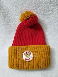 Vintage 70s 80s Knitted San Francisco 49ers Beanie Hat Cap