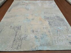 8and039 X 10and039 Rug   Modern Luxury Hand-knotted Wool And Tencel High Low Multi Area Rug