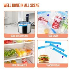50xsous Vide Bags 15 Reusable Food Vacuum Seal Bags For Anova And Joule Cookers