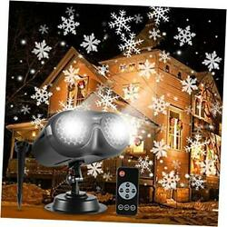 Christmas Snowflake Projector Lights Rotating Led Snowfall Projection Lamp