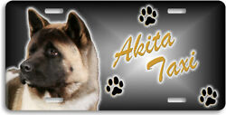 Akita Light Color  Taxi Line Automobile License Plate , Collectable