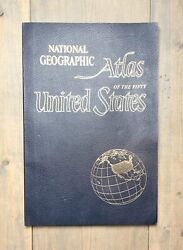 Vintage 1960 National Geographic Atlas Of The Fifty United States Map Book 19
