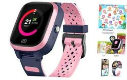 4g Smart Watch For Kids - Smartwatch With Gps Wifi Lbs Tracker Real Time Pink