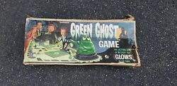 Vintage 1960and039s Transogram Green Ghost Glow In The Dark Board Game 3905 W/box