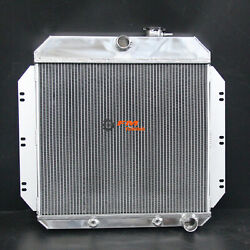 Aluminum Radiator For Chevrolet Chevy Series 60-62 3row 52mm At 6062
