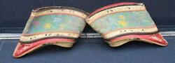 Antique Pair Of Embroidered Chinese Lotus Shoes 19th C
