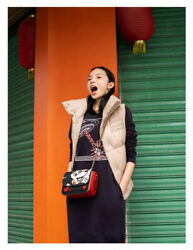 Coach Keith X Haring Disney Mickey Mouse Madison Shoulder Black Leather Bag New