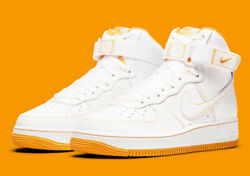 Nike Air Force 1 High And03907 White University Gold Cv1753-107 Menand039s Shoes New