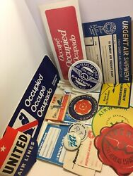 Vintage Worldwide And United States Airlines Advertising Air Labels Premiums 30
