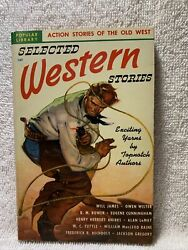 Selected Western Stories Ed. By Leo Margulie 1949 Popular Library 187 Ca Ross