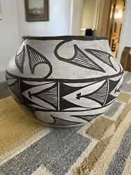 Very Old Zuni Or Acoma Pottery Piece Crack Burn Marks Gr8 Display Piece As Is